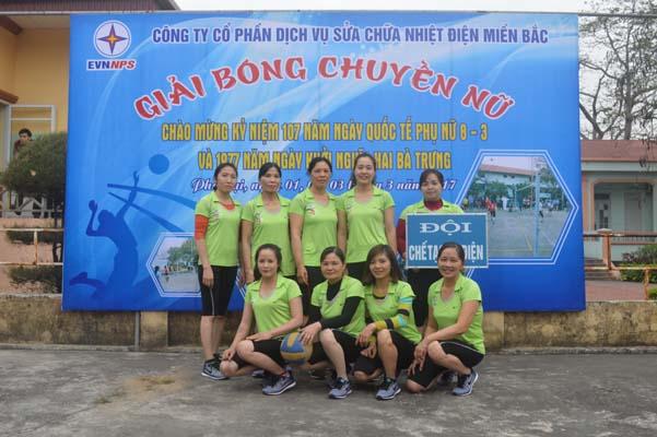 Khai mạc giải bóng chuyền Nữ Công ty CP Dịch vụ sửa chữa nhiệt điện Miền Bắc năm 2017